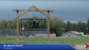 Global News story about the growing wait list for the Be Brave Ranch